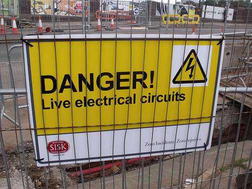 Danger electric circuits